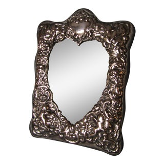 Vintage Sterling Silver Ornate Frame With Heart Shaped Window