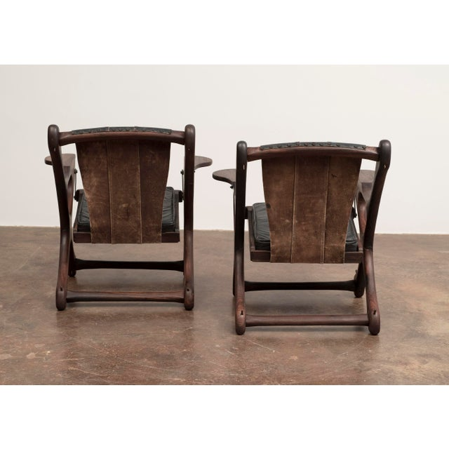 Don S. Shoemaker Don Shoemaker Lounge Chair and Ottoman Suite for Senal Sa, Mexico, 1960s - a Pair For Sale - Image 4 of 13