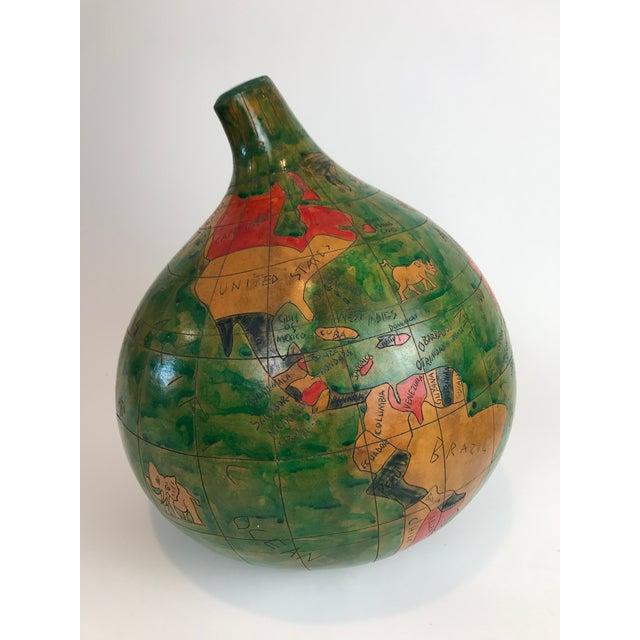 1970s Vintage Handmade Gourd Globe For Sale - Image 5 of 11