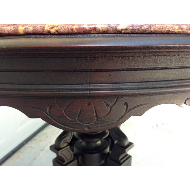 Antique East Lake Marble Top Table For Sale - Image 5 of 8