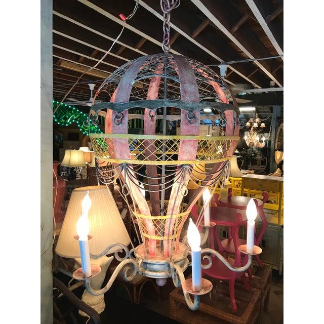 Coastal Regency Hot Air Balloon Chandelier For Sale - Image 11 of 12