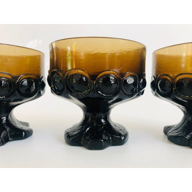 1970s Vintage 1970s Tiffin Franciscan Madeira Coupe Glasses - Set of 4 For Sale - Image 5 of 6