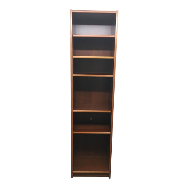 Narrow Teak Veneer Bookcase For Sale