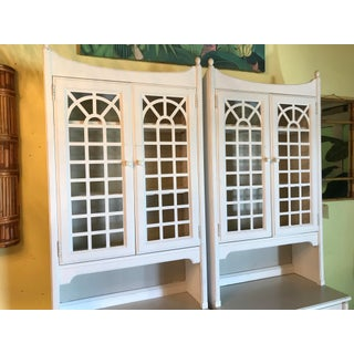 Vintage Thomasville Pagoda Lattice Bookcases-Pair Preview