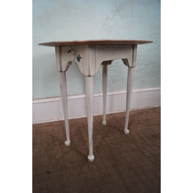 Store Item #: 8813 Hand painted Andrea Davinci Braun traditional side table. Approx 26 years, America. High quality, solid...