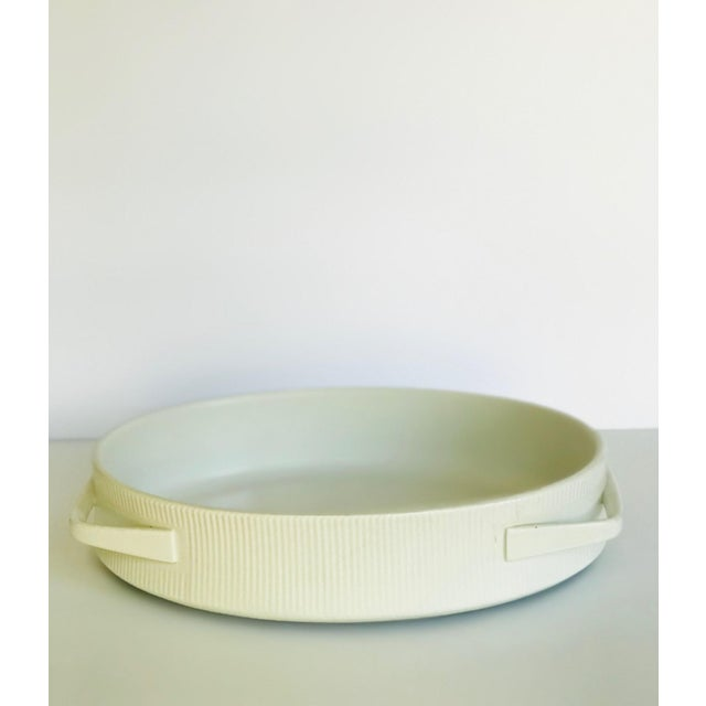 Contemporary Vintage Mid Century Modern White Ribbed Cordalite Cookware Set - 9 Pieces For Sale - Image 3 of 11