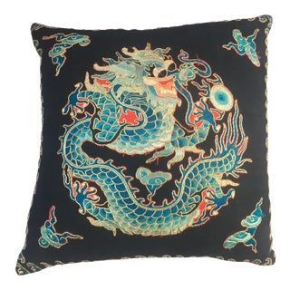 Embroidered Dragon Opera Robe Fragment Pillow For Sale
