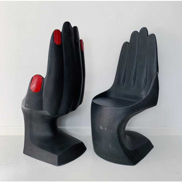 Art Deco Vintage European Touch Hand Chairs - a Pair For Sale - Image 3 of 7