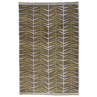Vintage Ingrid Dessau Flat-Weave Swedish Carpet For Sale