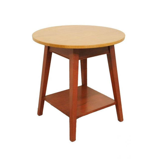 Late 20th Century Vintage Ethan Allen Country Colors Collection Side Table For Sale - Image 11 of 11