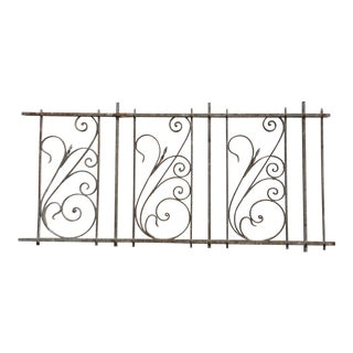 Antique Victorian Iron Gate Window Garden Fence Architectural Salvage For Sale