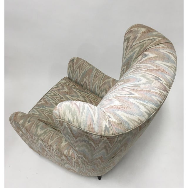 Italian High Back Lounge Chairs - A Pair - Image 9 of 11