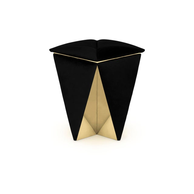 The prisma stool is a symphony of meticulous proportions based on a simple square black velvet, created with the same...
