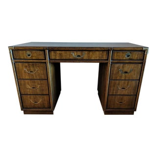 1960s Campaign Drexel Accolade Partner Desk For Sale