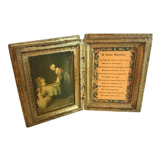 Vintage House Blessing Diptych For Sale