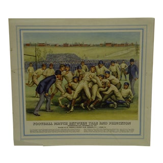 "1879 ""Football Match Between Yale and Princeton"" St. George's Cricket Club Print For Sale"
