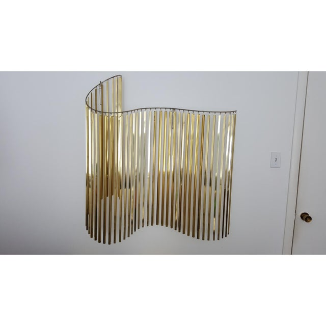 Curtis Jere Kinetic Wave Form Chrome & Brass Wall Sculpture - Image 2 of 11