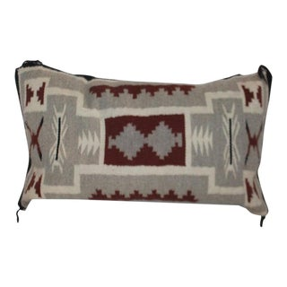 1940s Navajo Indian Pillow, Two Grey Hills For Sale