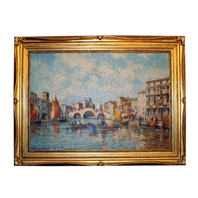 Venice Oil Painting - Image 1 of 4