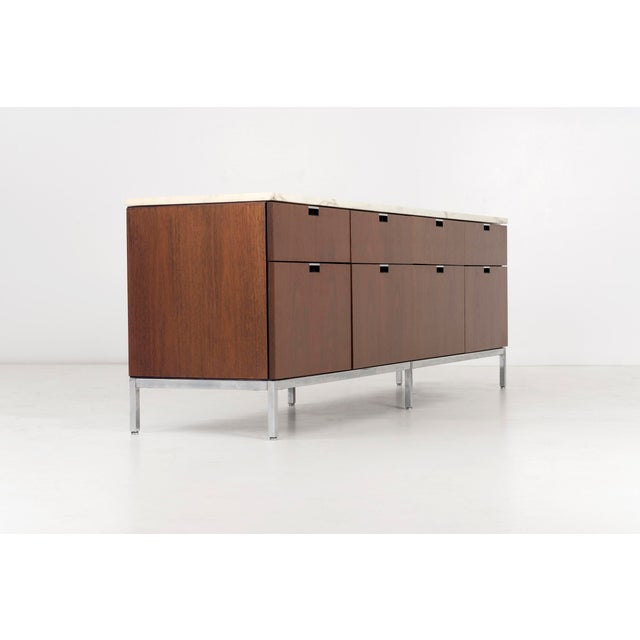 Knoll Florence Knoll Marble Top Credenza For Sale - Image 4 of 10
