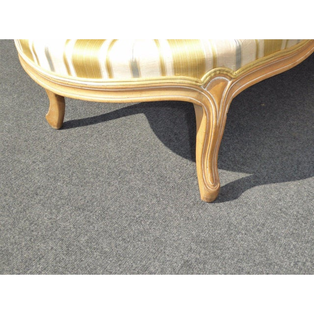 Vintage Baker French Provincial Gold Chaise Lounge Goose Down Cushion For Sale - Image 10 of 11