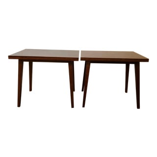 1960s Mid-Century Modern Brazilian Rosewood Side Tables - a Pair For Sale