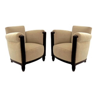 Paul Follot Pair of Comfy Club Chair For Sale
