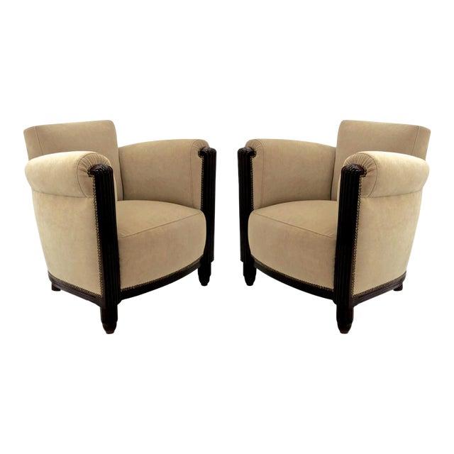 Paul Follot Pair of Comfy Club Chair For Sale