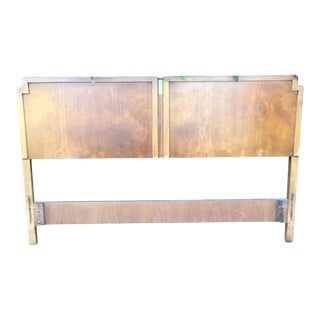 1960sCampaign Drexel Full Size Bed Headboard For Sale