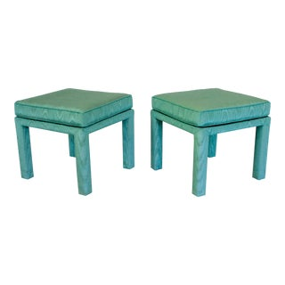 Parsons Pillow Top Ottomans - a Pair For Sale