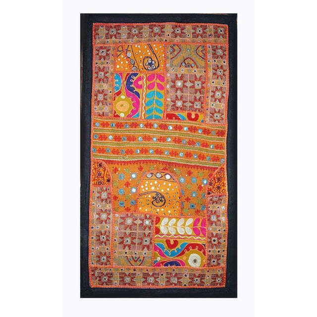 Cotton Antique Boho Chic Handmade Wall Hanging Tapestry For Sale - Image 7 of 8