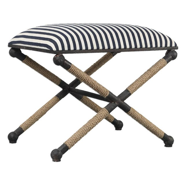 Nautical Striped Bench - Image 2 of 3
