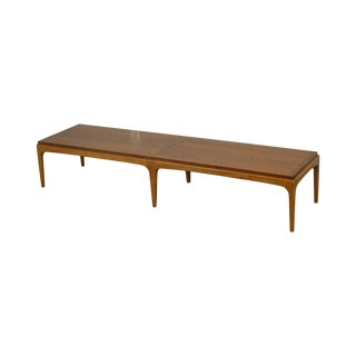 Lane Mid Century Modern Walnut Long Coffee Table For Sale