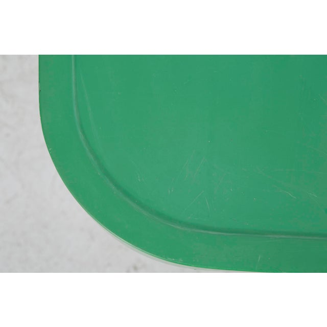 1960s Les Arcs Enameled Green Table by Charlotte Perriand For Sale - Image 5 of 9