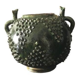 1940's Vintage Ceramic Green Vase