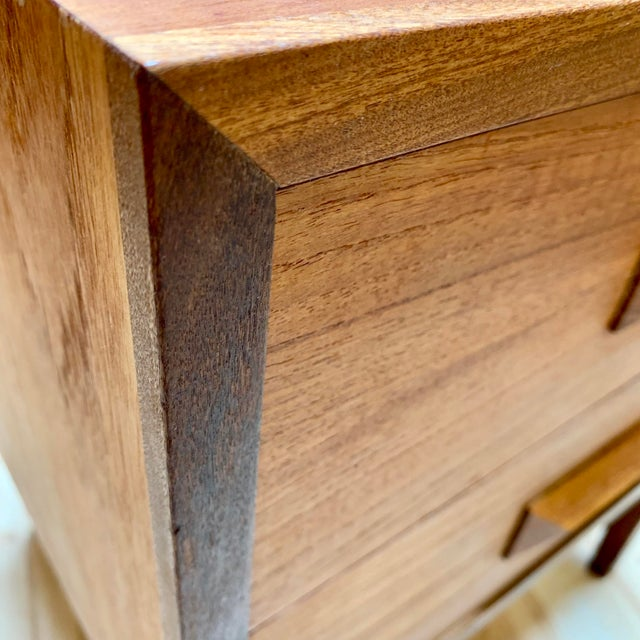 1960s Danish Modern Teak and Rosewood Nightstand For Sale - Image 12 of 13