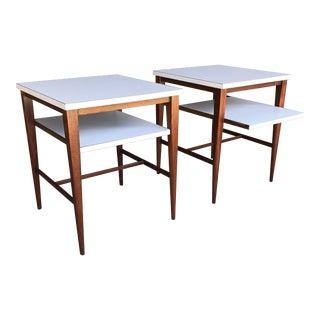 1960s Modern Paul McCobb Two-Tier End Tables - a Pair