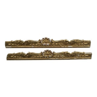 19th C. French Gilt Wood Carvings