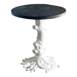 Vintage Regency Iron Tree Trunk Drink Table For Sale