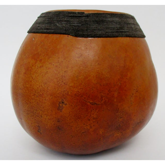 Late 20th Century Decorated Gourd Vase For Sale - Image 5 of 8
