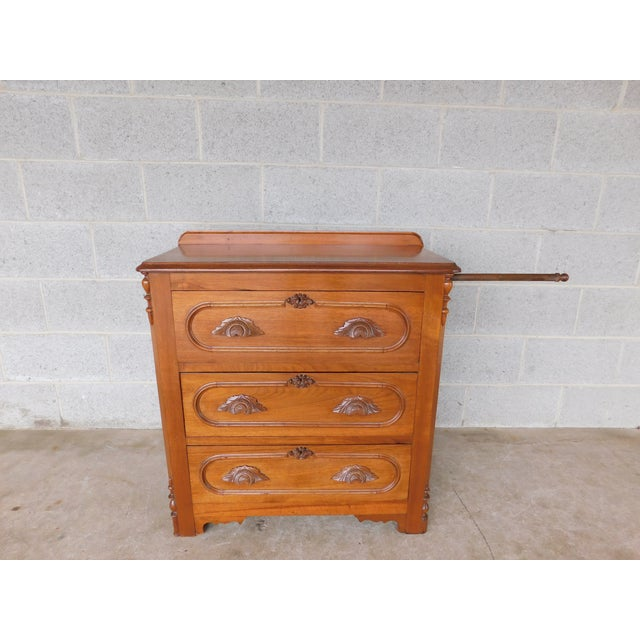 Antique Victorian Walnut Cottage Chest For Sale - Image 13 of 13
