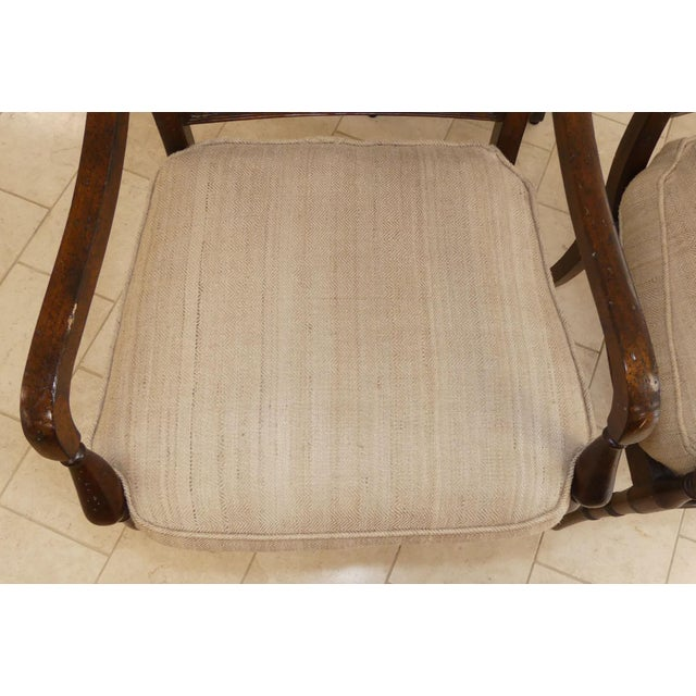 Brown John Richard Traditional Cane Seat Regency Armchairs- a Pair For Sale - Image 8 of 13