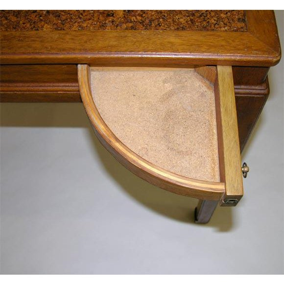 1950s Cork Top Game Table by Edward Wormley for Dunbar For Sale - Image 5 of 7