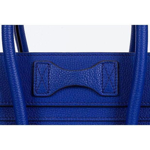 2000 - 2009 Celine New Indigo Micro Luggage Bag For Sale - Image 5 of 10
