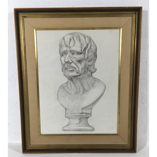 Academy Style Charcoal on Paper For Sale - Image 9 of 10
