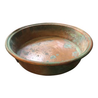 Early 20th Century French Copper Double Handle Pan For Sale