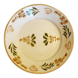 Williams Sonoma Hand Painted Italian Serving Bowl For Sale