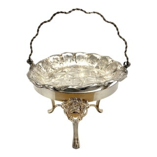 1950s Silver Plated Chafing Dish For Sale