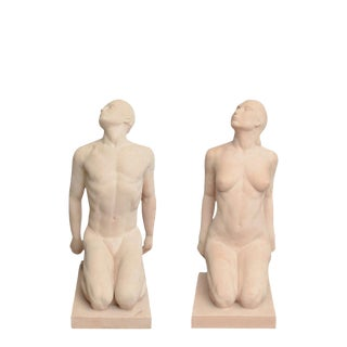 Matched Pair of Art Deco Terracotta Sculpture or Statues by Demetre Chiparus For Sale