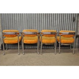 Set of 4 Vintage Chromcraft Mid Century Modern Tubular Chrome Dining Arm Chairs Preview